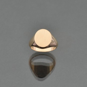 Chevalière ovale 10x12