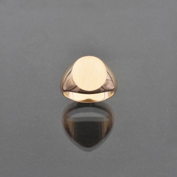Chevalière ovale 11,5x13,5