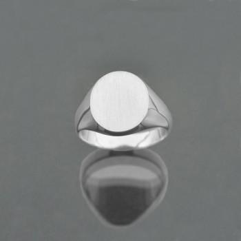 Chevalière ovale 12x14