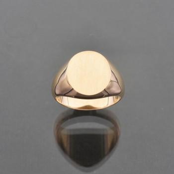Chevalière ovale cossue 13x15