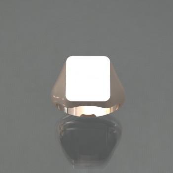 Chevalière rectangle 12x14