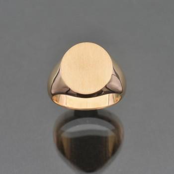 Chevalière ovale 15x17
