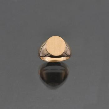 Chevalière ovale cossue 9x11