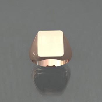 Chevalière rectangle 13x15
