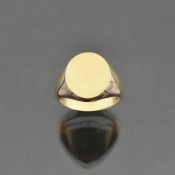 Chevalière ovale 13x15
