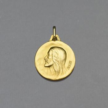 Médaille or Christ sans épine