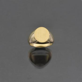 Chevalière ovale cossue 10x12