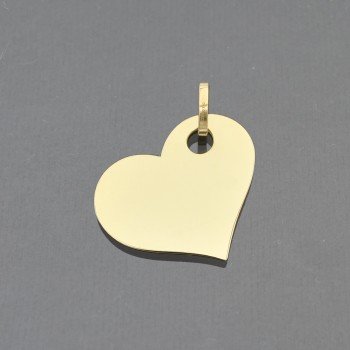Pendentif coeur penché