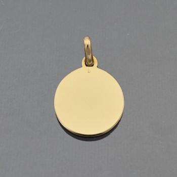 Médaille ronde avec bélière...